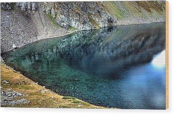 Mountain Lake Wood Print by Martin Marinov