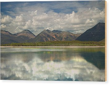Mountain Lake Wood Print by Tim Reaves