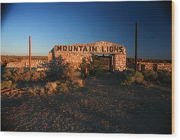 Wood Print featuring the photograph Mountain Lions At Two Guns by Lon Casler Bixby