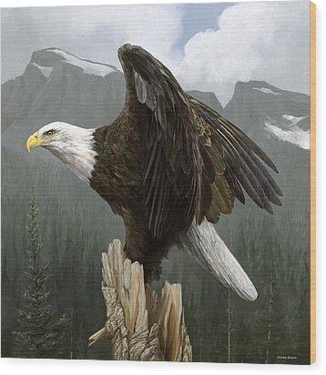 Mountain Majesy Wood Print