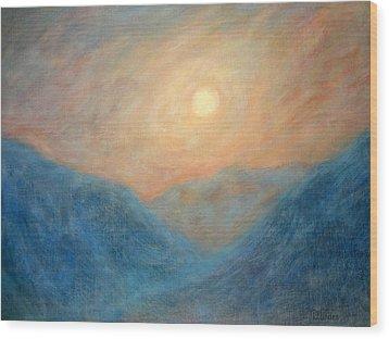 Mountain Mist Wood Print by David Wiles