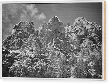 Wood Print featuring the photograph Mountain Peaks by Lisa  Spencer