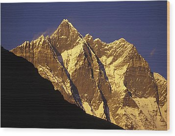 Mountain Peaks Wood Print by Sean White