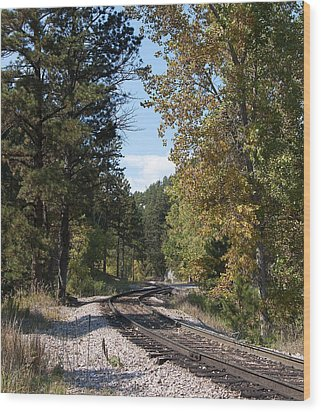 Mountain Railroad Wood Print