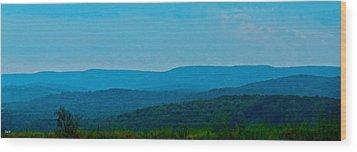 Mountain Range Wood Print by Debra     Vatalaro