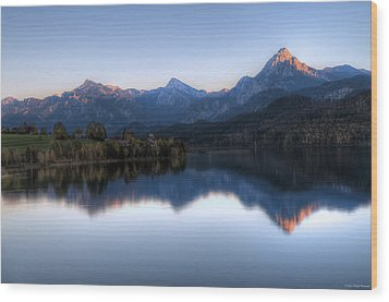 Mountain Reflections Wood Print by Ryan Wyckoff