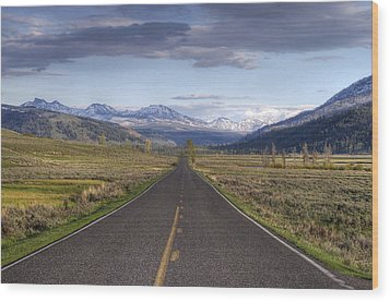 Mountain Road Wood Print by DBushue Photography