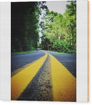 Mountain Road Wood Print by Natasha Marco