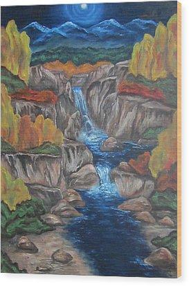 Mountain Waters Wood Print