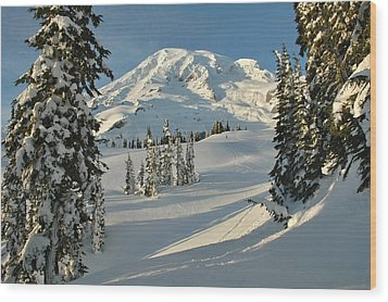 Mountainous Landscape In Mt. Rainer Wood Print by Raymond Gehman