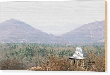Mountains At Biltmore Wood Print