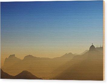 Mountains Of Rio De Janeiro Wood Print by Antonello