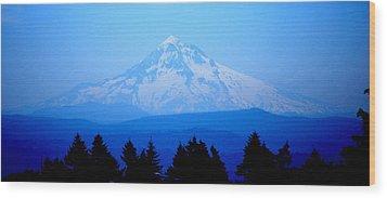 Mountian Blues Wood Print