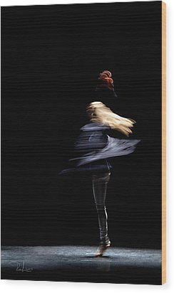 Wood Print featuring the photograph Moved Dance. by Raffaella Lunelli
