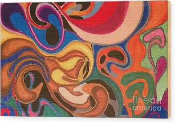 Movement Wood Print by Damion Powell