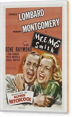 Mr. And Mrs. Smith, Robert Montgomery Wood Print by Everett