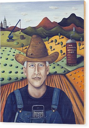 Mr Cooper's Spinach Farm Wood Print by Leah Saulnier The Painting Maniac