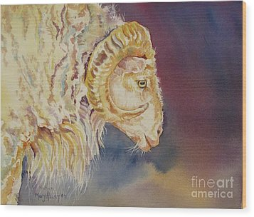 Mr. Ram Wood Print by Mary Haley-Rocks
