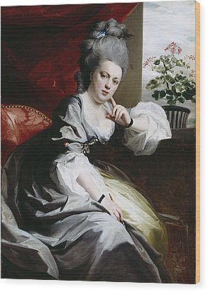 Mrs Clark Gayton Wood Print by John Singleton Copley