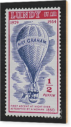 Wood Print featuring the photograph Mrs Graham The Balloonist by Andy Prendy