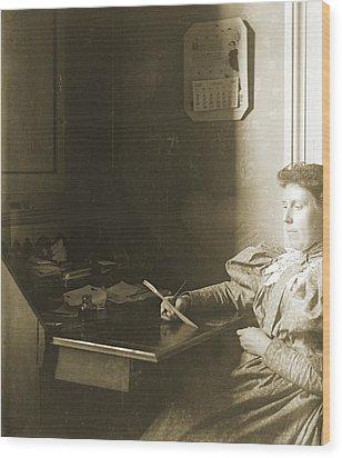 Mrs W - April 1885 Wood Print by Jan W Faul
