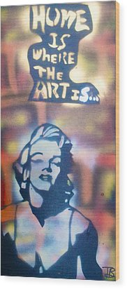 Ms.monroe Wood Print by Tony B Conscious