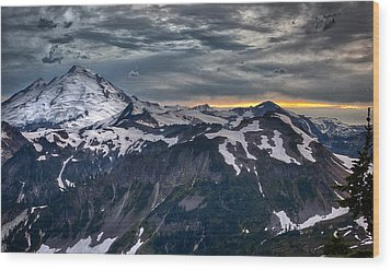 Mt Baker Wood Print by A A