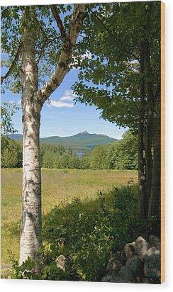 Mt. Chocorua Summer Vertical Wood Print