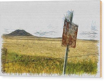 Mt Dora - Sketch Wood Print by Nicholas Evans