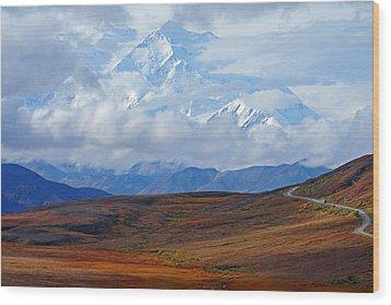 Mt. Mckinley Wood Print by Alan Lenk