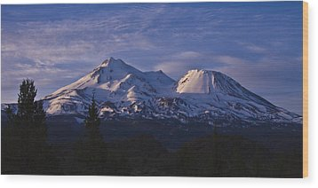 Mt Shasta Wood Print