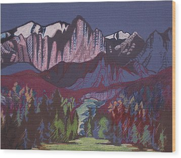 Mt Whitney Wood Print