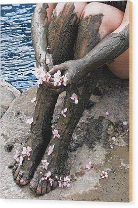 Mud Socks Wood Print
