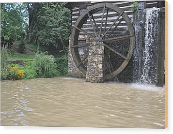 Muddy Water After The Rain Wood Print by Jan Amiss Photography