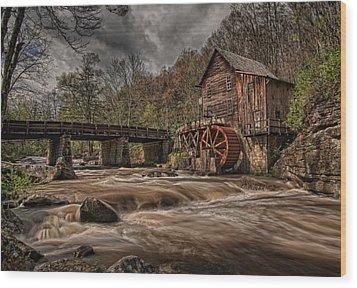 Muddy Water Wood Print by Wade Aiken