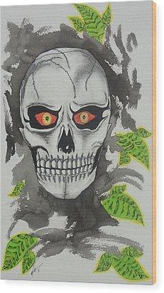 Muerte Wood Print