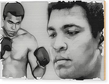 Muhammad Ali Wood Print by Tilly Williams