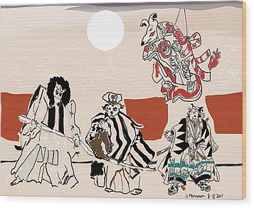 Mukikabuki Theatre Wood Print by Susie Morrison