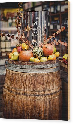 Mulled Wine Wood Print by Heather Applegate