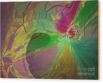 Multi Colored Rainbow Wood Print by Deborah Benoit