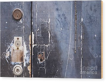Wood Print featuring the photograph Multiple Locks by Agnieszka Kubica