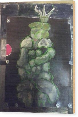 Munhattan Figurine Wood Print by Christine Randolph