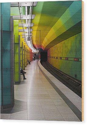 Munich Subway No.2 Wood Print by Wyn Blight-Clark
