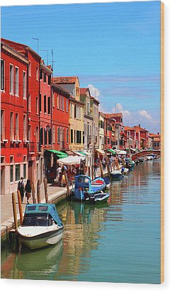 Murano, Italy Wood Print by Annhfhung