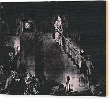 Murder Of Edith Cavell By George Wood Print by Everett