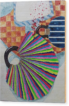 Murder She Wrote Wood Print by David Raderstorf