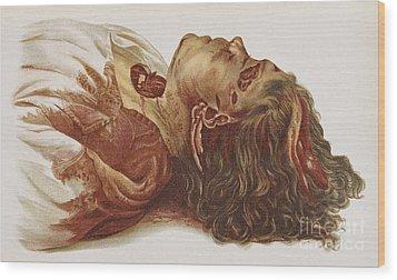 Murder Victim 1898 Wood Print by Science Source