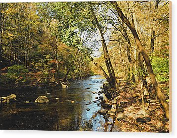 Wood Print featuring the photograph Musconetcong River by Brian Hughes