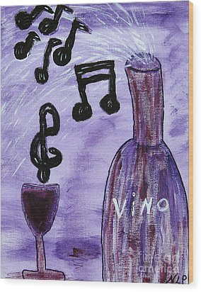 Music In My Glass Wood Print
