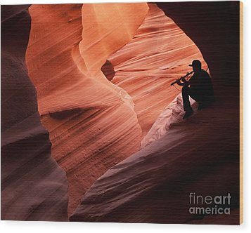 Music In The Canyon Wood Print